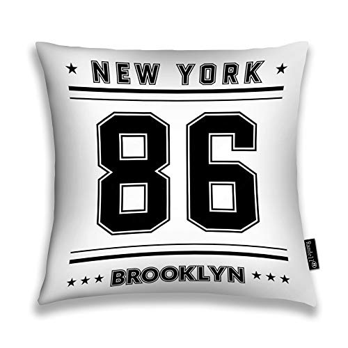 Randell Throw Pillow Covers New York City Brooklyn Street Style NYC SPO Home Decorative Throw Pillowcases Couch Cases 18