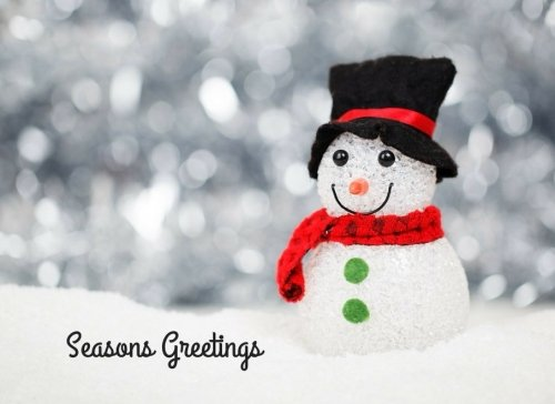Seasons Greetings: Christmas Snowman Design | Guest Book |Message Book | Friendship Log | Keepsake | Use For: Guest Houses, B&B's, Birthdays, ... Memorials and more, 70 blank pages, (Seasons Greetings Snowman)