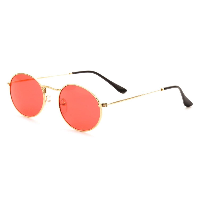 Juleya gafas de sol ovaladas pequeñas mujeres hombres gafas de sol  transparentes amarillas gafas de sol a1da3767a42d