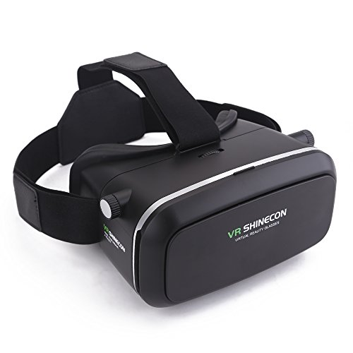 "Mbuynow 3D VR Headset, Virtual Reality Goggles for Movies Video Games, Compatible with 4.7''~ 6.0"" Smartphones (black)"