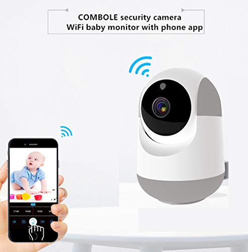 Long Range WiFi Baby Monitor Baby Monitor with Camera and Audio,1080P Wireless Security Camera with Night Vision, Motion Detection,Two Way Audio and Cloud Storage for Baby Pet Elder