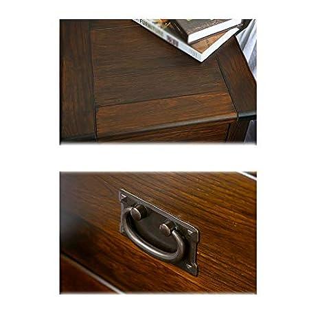 Amazon.com: LWWOZL Bedside Table Dormitorio De Madera Maciza ...