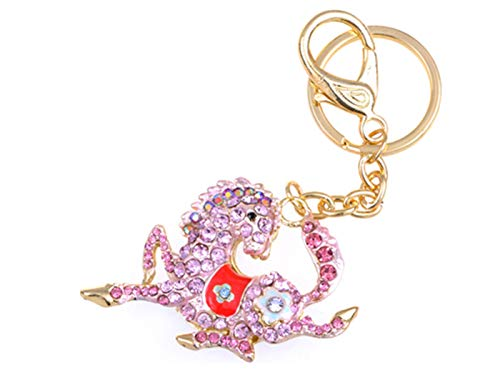 Alilang Sparkling Metal Horse Key chains For Women Girls Gifts Car Purse Animal Pendant -