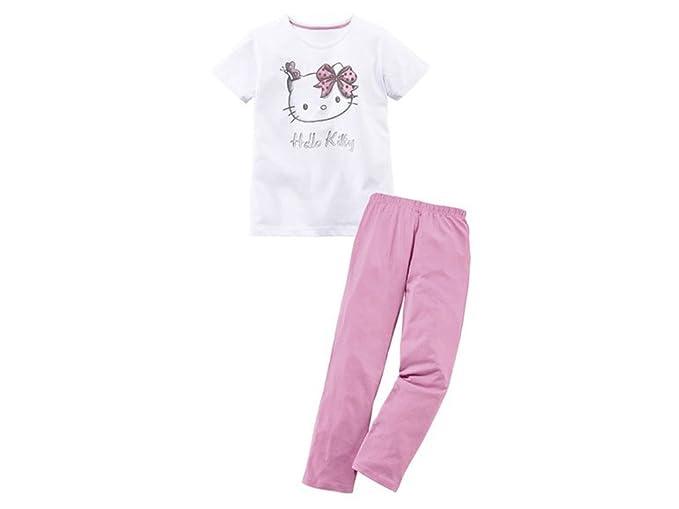 Hello Kitty Pijama - para niña blanco/rosa 122 cm-128 cm
