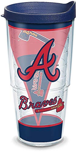 Tervis 24 oz. Atlanta Braves Batter Up Tumbler With Lid One Size ()