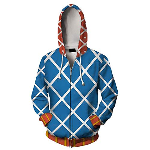 JoJo's Bizarre Adventure Hoodie Guido Mista Cosplay Costume Jacket Christmas Halloween,S Blue -