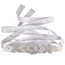 Wedding Prom Bridal Belt Crystal Rhinestone Dress Sash Wedding Sash Belt