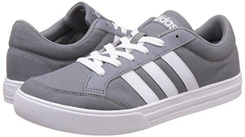 adidas Vs Set, Chaussures de Tennis Homme, Gris (Gris/Ftwbla/Ftwbla), 44 EU