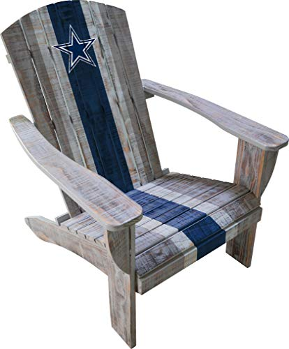 Imperial Officially Licensed NFL Furniture: Distressed Wooden Adirondack Chair, Dallas -