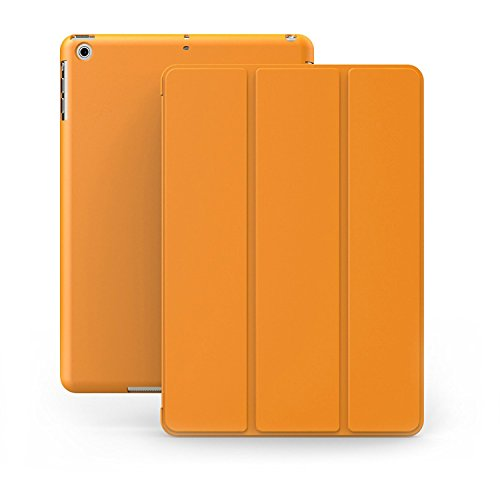 KHOMO iPad Mini 1 2 3 Case - Dual Series - Ultra Slim Orange Cover with Auto Sleep Wake Feature for Apple iPad Mini 1st, 2nd and 3rd Generation