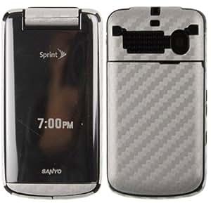 Skinomi TechSkin - Silver Carbon Fiber Film Shield & Screen Protector for Sanyo Mirro + Lifetime Warranty