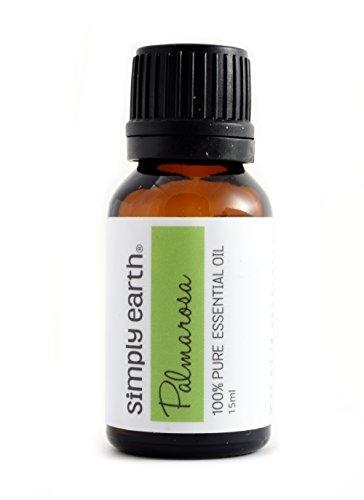 Palmarosa Essential Oil by Simply Earth - 15 ml, 100% Pure Therapeutic Grade