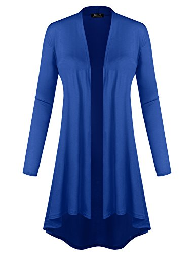 BILY Women's Open Front Lightweight Jersey Classic Long Sleeve