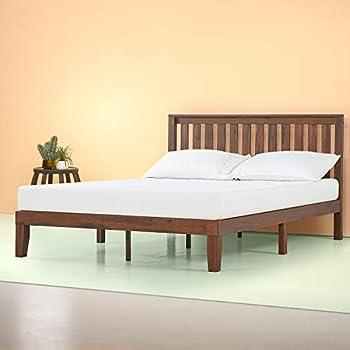 Amazon Com Zinus Vivek 12 Inch Deluxe Wood Platform Bed