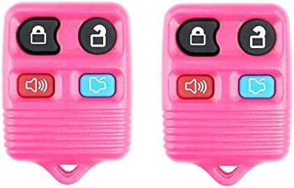 Lincoln CanadaAutomotiveSupply /© Mercury vehicles CWTWB1U331 2 New Replacement PINK Keyless Entry 4 Button Remote for Select Ford