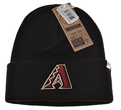MLB Arizona Diamondbacks '47 Brand Cuff Knit Hat, One Size, black