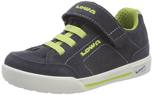 Lowa Jungen Lisboa Lo Junior Trekking-& Wanderstiefel Blau (Stahlblau/limone 9701)