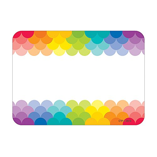Creative Teaching Press Painted Palette Rainbow Scallops Labels/Name Tags (4821) ()