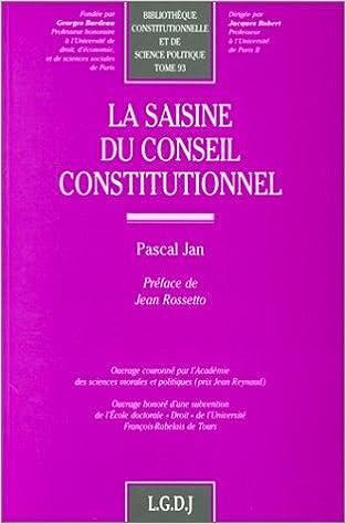 Livre gratuits La saisine du Conseil constitutionnel pdf