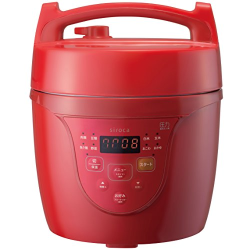 Siroca Microcomputer Electric Pressure Cooker Cook Meister Red SPC-101RD by AucSale