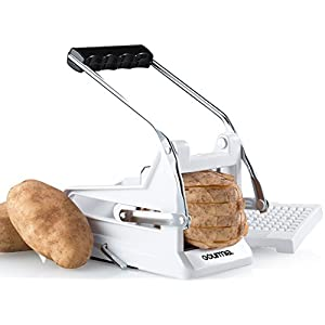 Gourmia GCU9245 French Fry Cutter Professional Potato Slicer With 2 Interchangeable Blades Also Use for Vegetables Like Cucumber, Carrot & More