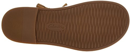 Clarks Corsio Dallas, Sandalias con Cuña para Mujer Marrón (Light Tan Lea)