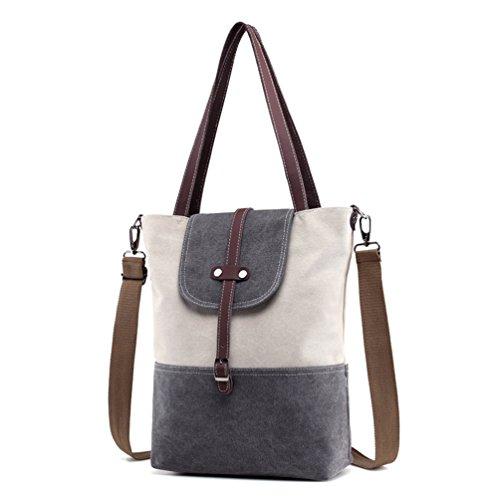 Sanxiner Tote Bag Canvas Top Handle Bags Shlouder Weekend Handbag for Women (Gray) (Cheap Designer Bags)