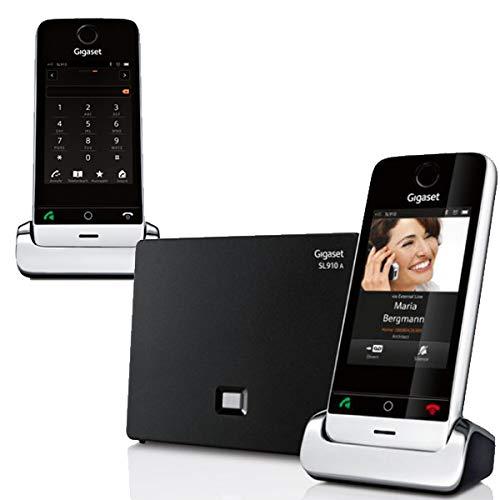 Gigaset  Duo color negro SL910H, SL910A Pack de 2 tel/éfonos inal/ámbricos con pantalla t/áctil