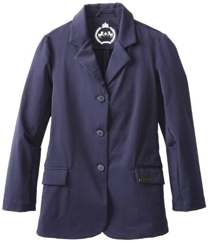 Childs Show Coat - Equine Couture Girl's Raleigh Show Coat, EC Navy, 14