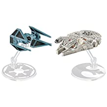 Hot Wheels Star Wars Starship Millennium Falcon vs Tie Bomber (2 Pack)