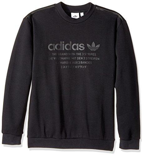 adidas Originals Men's Outerwear Nmd Crew Sweatshirt, Black, Medium ()