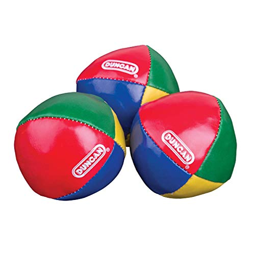 Duncan Juggling Balls - [Pack of 3] Multicolor, Vinyl Shells, Circus Balls with 4 Panel Design, Plastic Beans