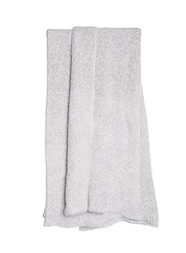 Barefoot Dreams Cozychic Heathered Throw Dove-White by Barefoot Dreams
