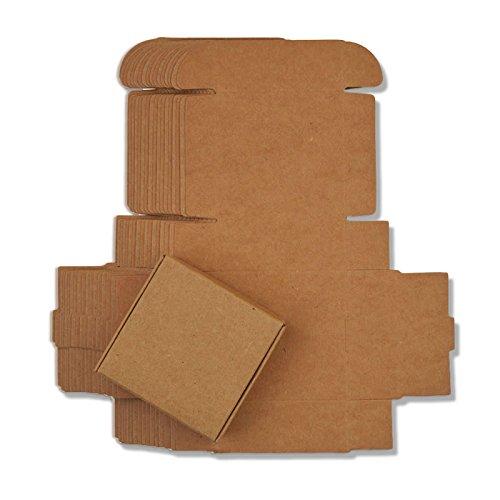 Ranggrgt 10Pcs Small Kraft Paper Gift Packaging Box,Kraft Handmade Soap Candy Box,Black White Personalized Craft Cardboard Box Kraft Paper 7x7x3cm