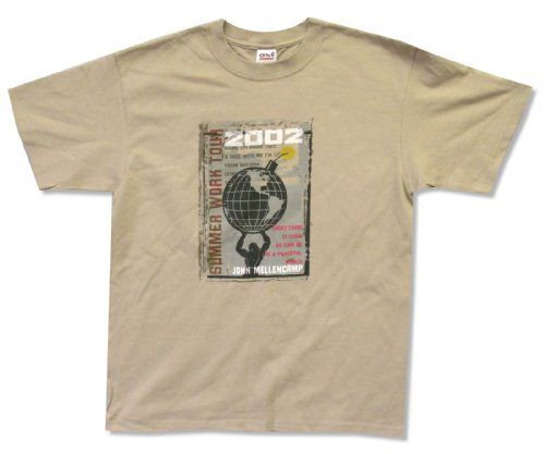 - Adult John Mellencamp Atlas Tan T-Shirt (Medium)
