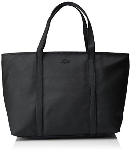 Lacoste Damen Womens Classic Umhängetaschen, 19.5x30x37 cm Noir (Black)
