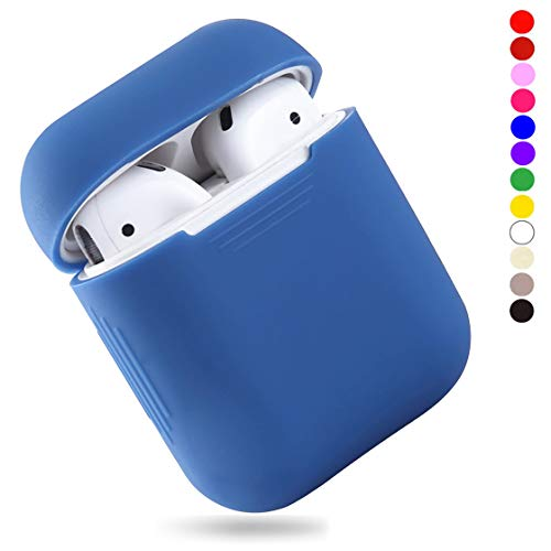 EYEKOP AirPods Case, Premium Ultra-Thin Soft Skin Cover Compatible with Apple AirPods 2 & 1 - Light Blue
