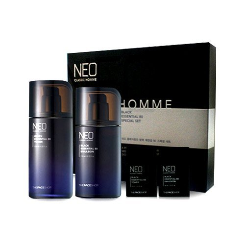 [The Face Shop] Neo Classic Homme Black Essential 80 Skin Care (Black Essential 80 Special Set)