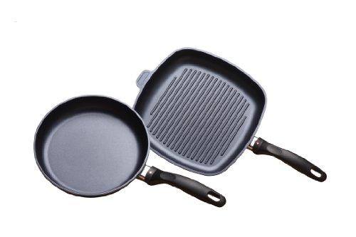Swiss Diamond 2 Piece Set: Fry Pan and Grill Pan by Swiss Diamond