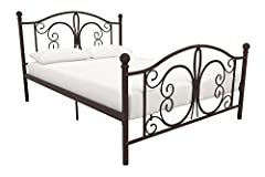 The Bombay metal bed brings you back in time with its style reminiscent of the British colonial era. Crafted in a beautiful metal frame designed with whimsical curves and fine detailing, this bed fits perfectly in any bedroom, guestroom or ev...