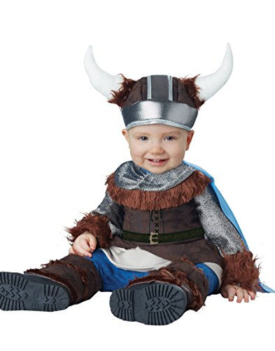 California Costumes Baby Boys' Lil' Viking Infant, Brown/Silver, 12 to 18 Months