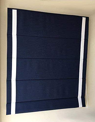 navy roman shade chevalle indigo in flat style deep blue background with white. Black Bedroom Furniture Sets. Home Design Ideas