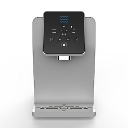 Bottleless Countertop Water Cooler Dispenser - 3 Temperature Settings - Hot, Cold & Room Water, Touch Control Dispense, UltraVi Sterilization +Multi-Stage Filtration - UL/Energy Star Approved
