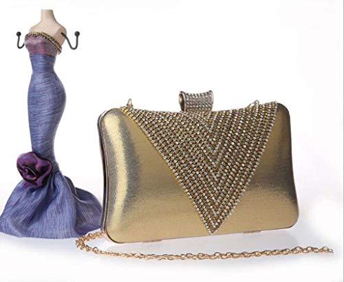 Spalle Ddhzta Tenere A Per Gold Cavalletto Inclinata Una Borsa Le purple 7q67w