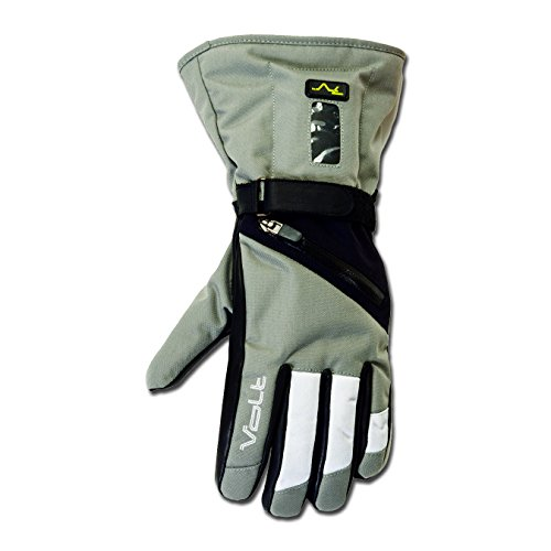 Volt Resistance Women's 7v Heated Waterproof Snow Gloves Small White Grey