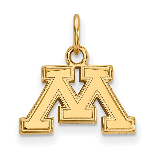 Minnesota Extra Small (3/8 Inch) Pendant (14k Yellow Gold) by LogoArt