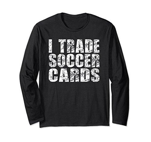 Unisex I Trade Soccer Cards T Shirt Large Black Trade Soccer T-shirt