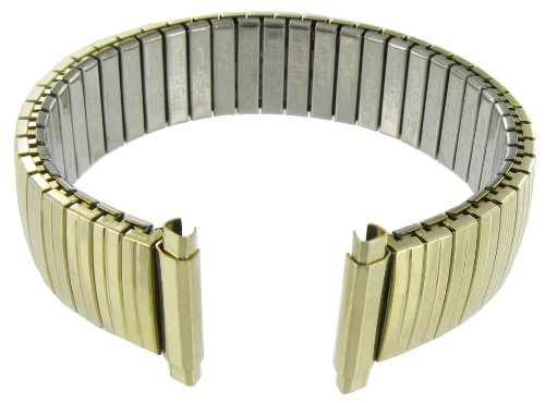 16-21mm Straight End Speidel Twist-O-Flex Gold Tone Stainless Watch Band Long 500/33