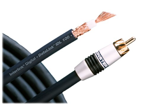 Monster IDL1001M Datalink 100 Digital Coaxial Cable (1 meter) (Discontinued by Manufacturer) - 1m Digital Coax Audio Cable