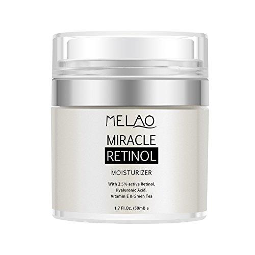 Price comparison product image Face Moisturizer Cream, Anti Aging Moisturizer for Face with Active 2.5% Retinol, Hyaluronic Acid & Vitamin E, Reduce Fine Lines Wrinkles Acne, Deep moisturizing, Improve Skin Tone - 1.7 Oz